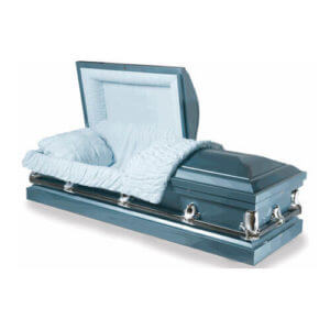 Empire Blue - 20 Gauge Steel Casket