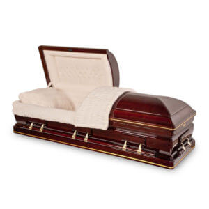 Lincoln - Solid Red Cherry Wood Casket