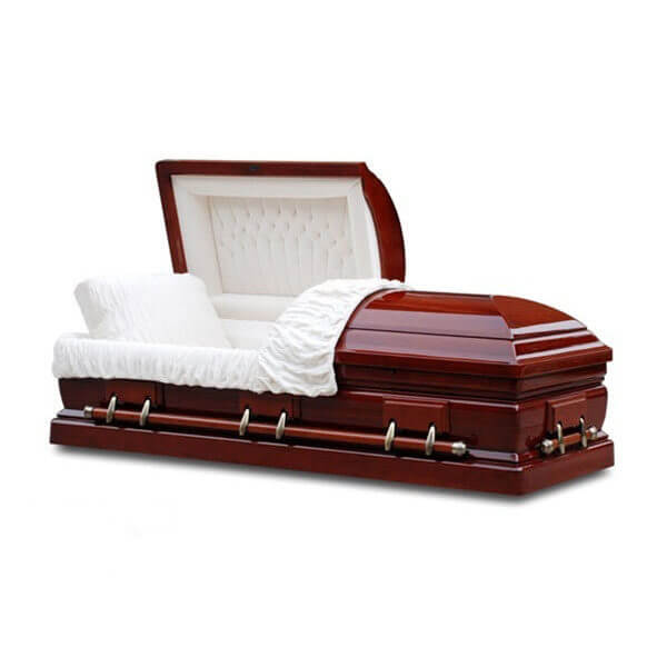 Monticello - Solid Red Cherry Wood Casket