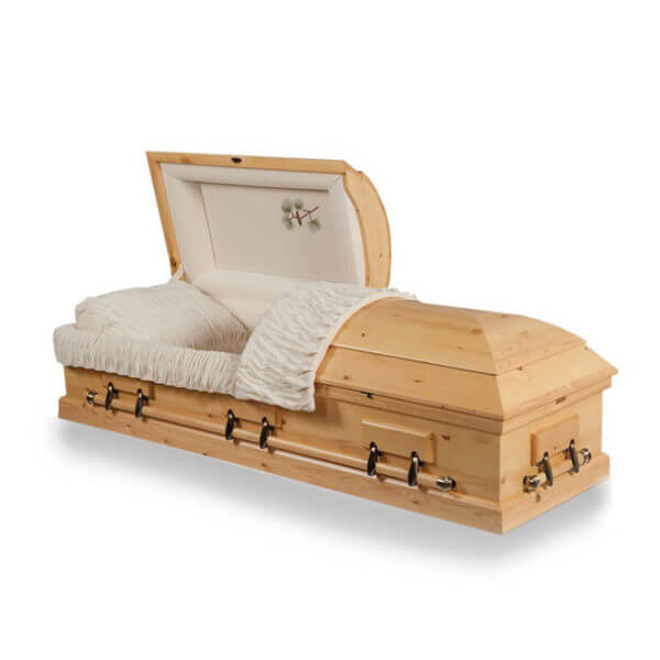Rocky Mountain Pine Oversize - Solid Hardwood Casket