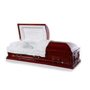 Satin Cherry Solid Hardwood Casket