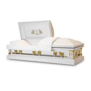White Cross - 18 Gauge Steel Casket