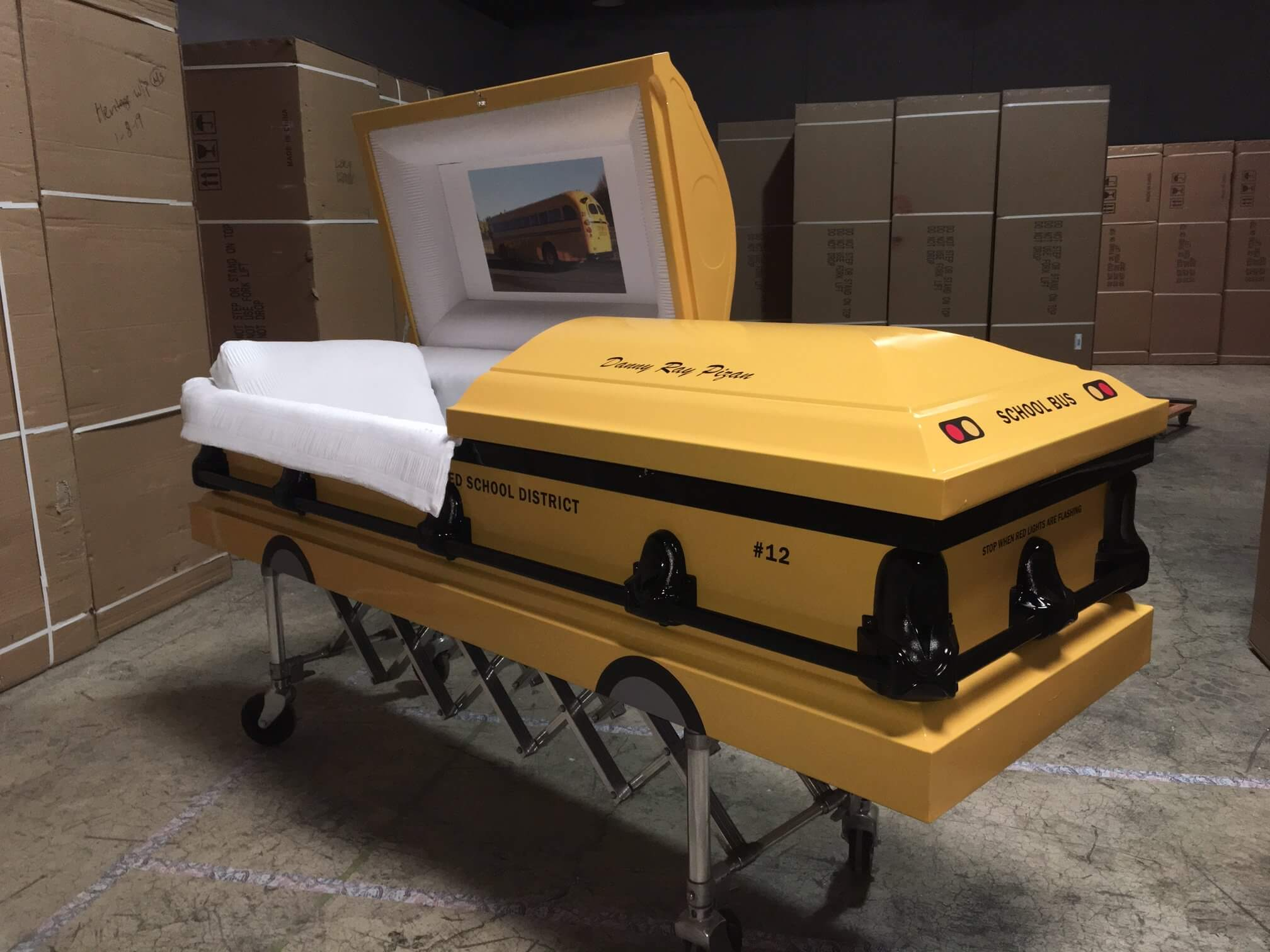 School Bus Casket