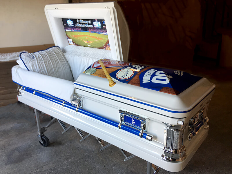 LA Dodgers Custom Casket