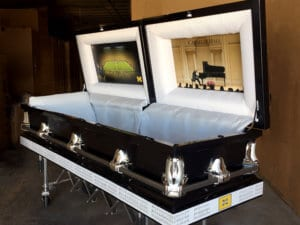 university of Michigan custom casket