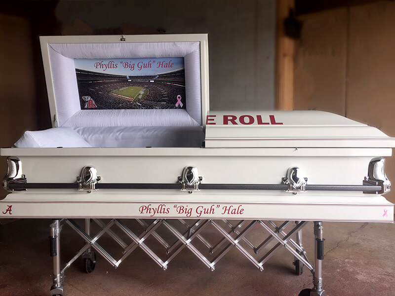 University of Alabama Custom Casket
