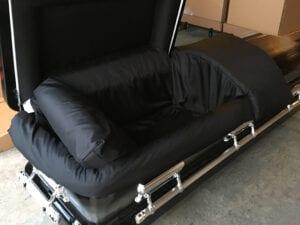 Custom Black Casket
