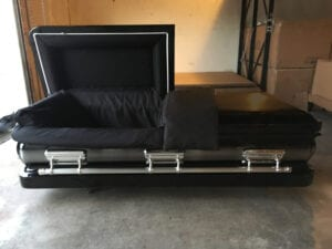Black on Black Custom Casket